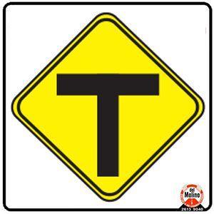 camino biburcado en T