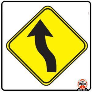 curva izquierda contracurva