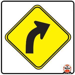 curva peligrosa a la derecha