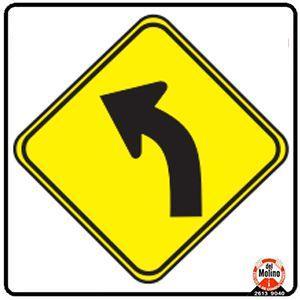 curva peligrosa a la izquierda