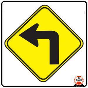 curva pronunciada izquierda