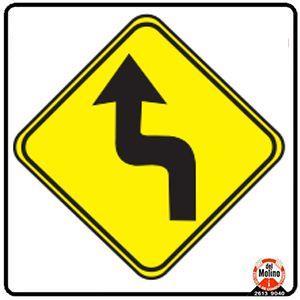 curva pronunciada izquierda en S