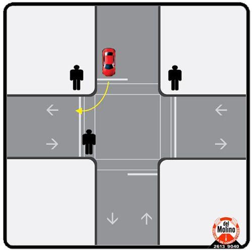 peatones autos
