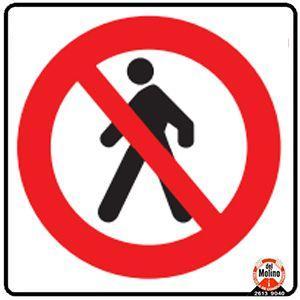 peatones prohibido
