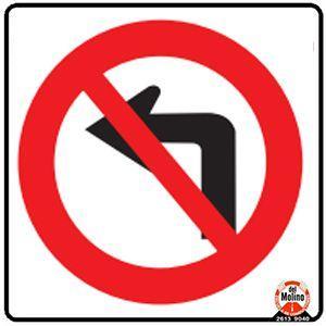 no girar a la izquierda